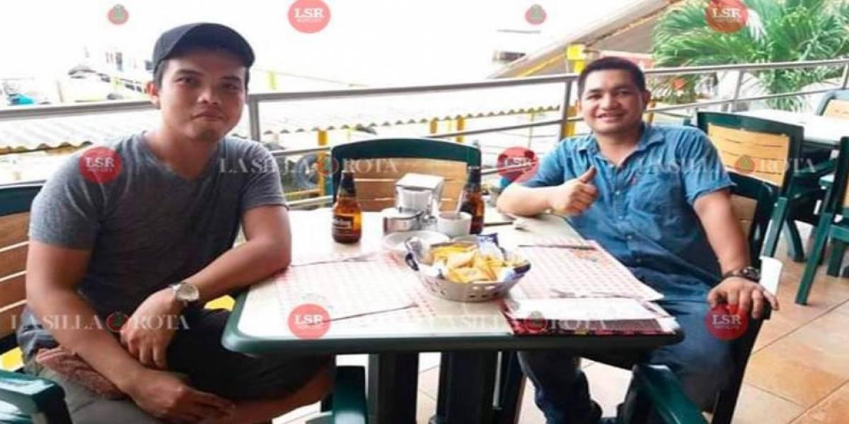 Nathaniel y Bryan, marinos filipinos que encontraron la muerte en bar de Coatzacoalcos