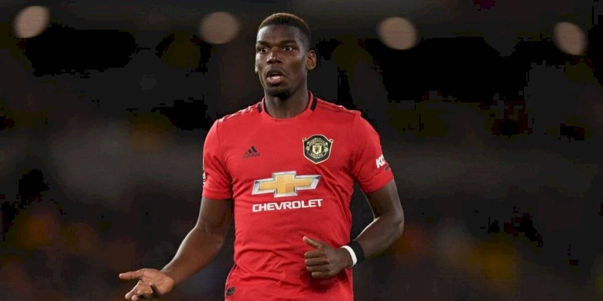Aparece una pinta contra Pogba en instalaciones del Man United