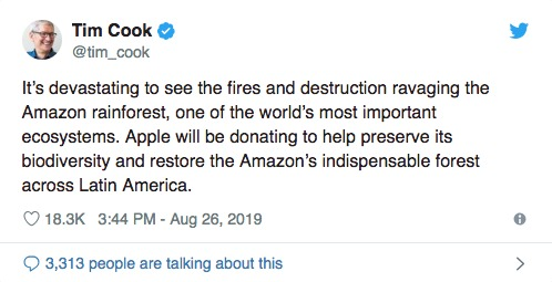 Amazonas Tim Cook