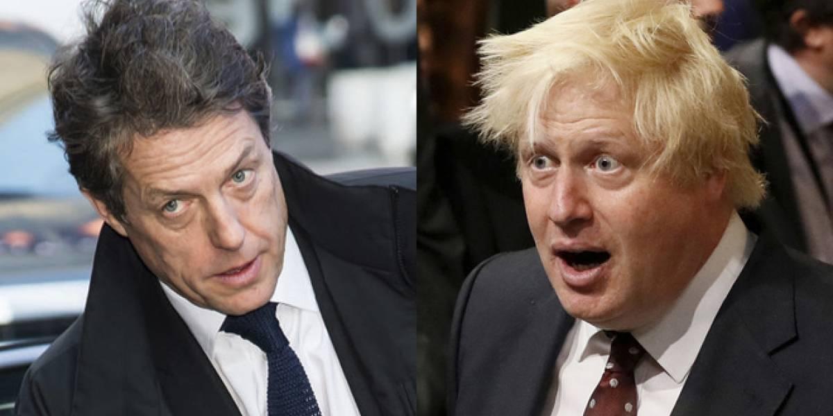 """""""Vete a la mier..."""", dice Hugh Grant al primer ministro Boris Johnson"""