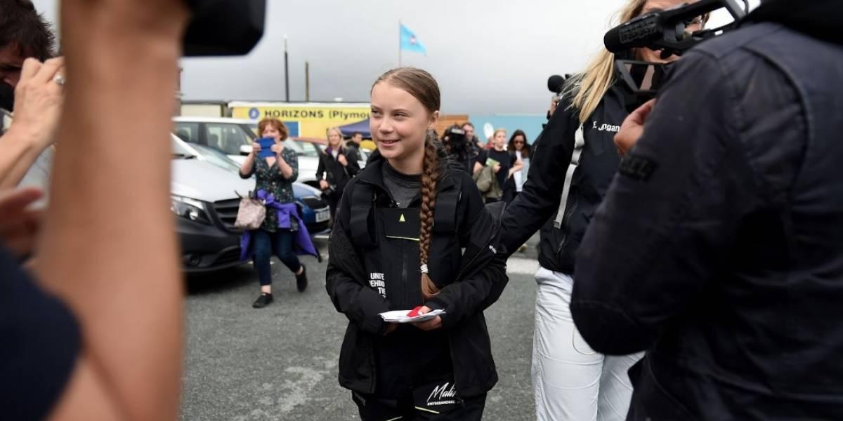 Greta Thunberg causa sensación a su llegada a Nueva York