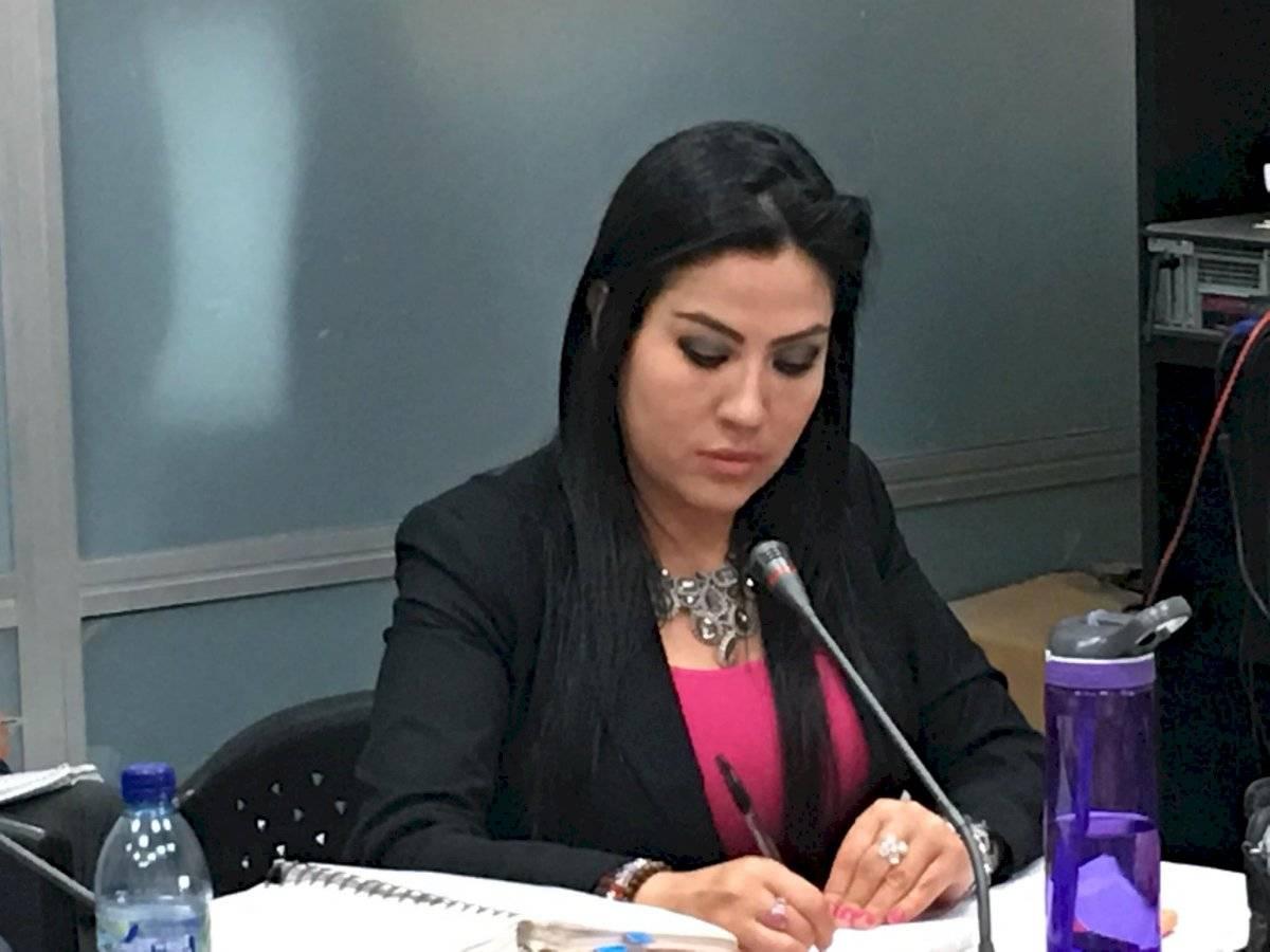 Cinthia Monterroso, fiscal de FECI que denuncia a Erika Aifán. Foto: Jerson Ramos Jerson Ramos