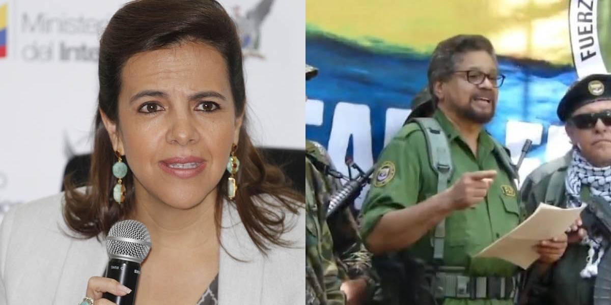 """María Paula Romo sobre retorno a las armas en las FARC: """"Un anuncio gravísimo"""""""