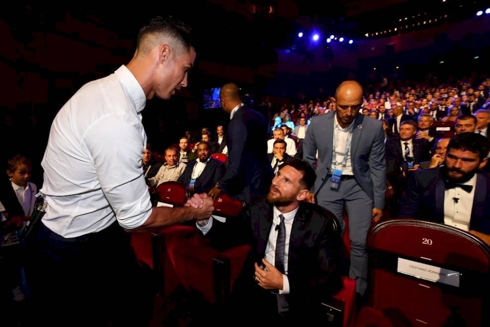 Messi y Cristiano en el sorteo