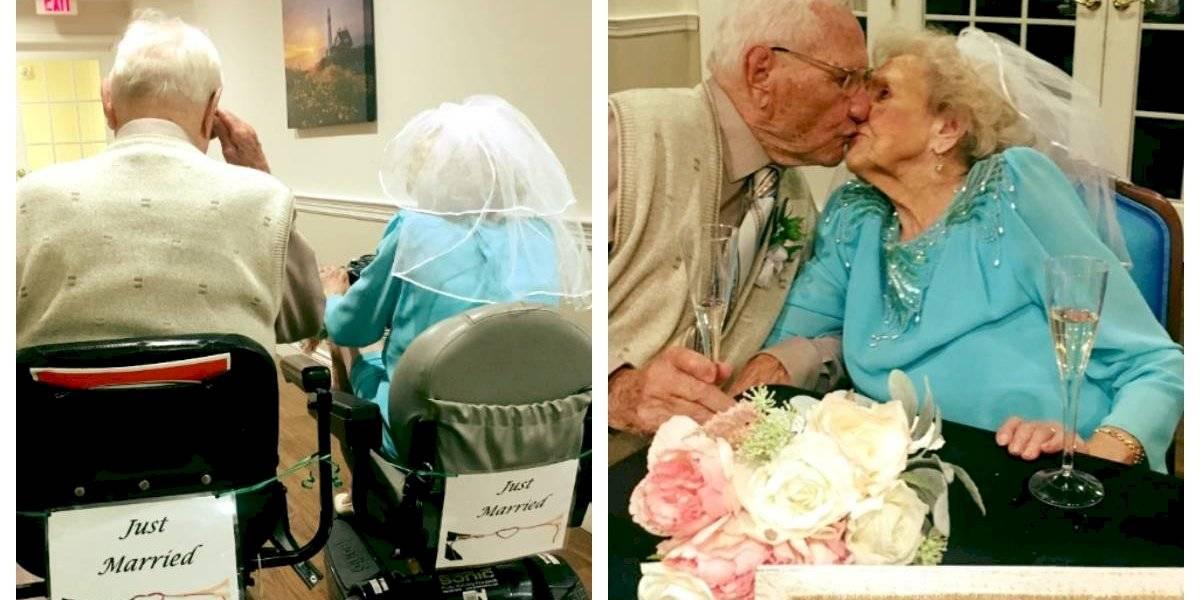 """""""Nunca es demasiado tarde para encontrar el amor"""": tienen 100 y 103 años, y se casaron luego de conocerse en un asilo"""