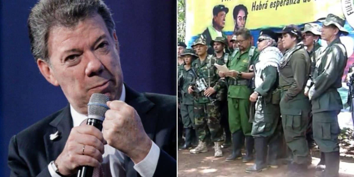 Santos asegura que las Farc no existen y la facción es una banda criminal