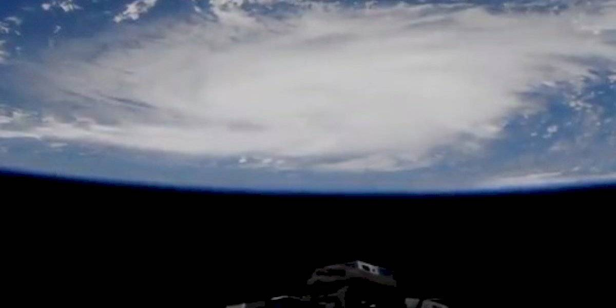 """""""Absoluto monstruo"""": el aterrador video desde el espacio del avance del huracán Dorian por el Atlántico"""