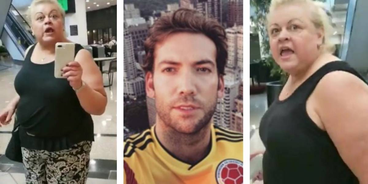 #VIDEO Mujer atacó a hijo de Juan Manuel Santos y este la grabó