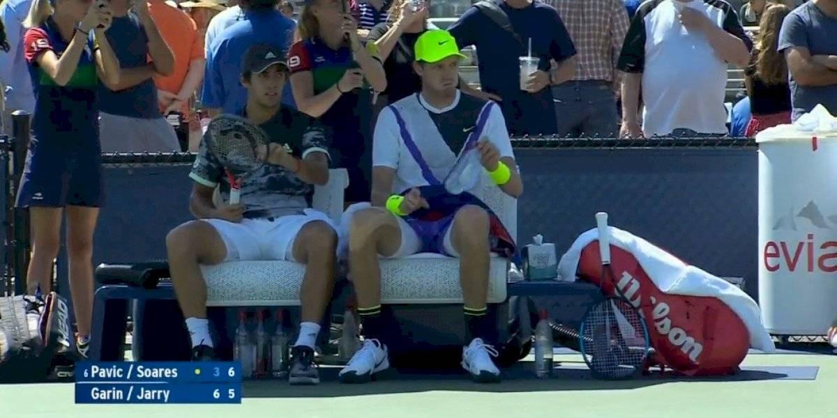 Nicolás Jarry y Cristian Garin tuvieron un fugaz paso por el dobles del US Open