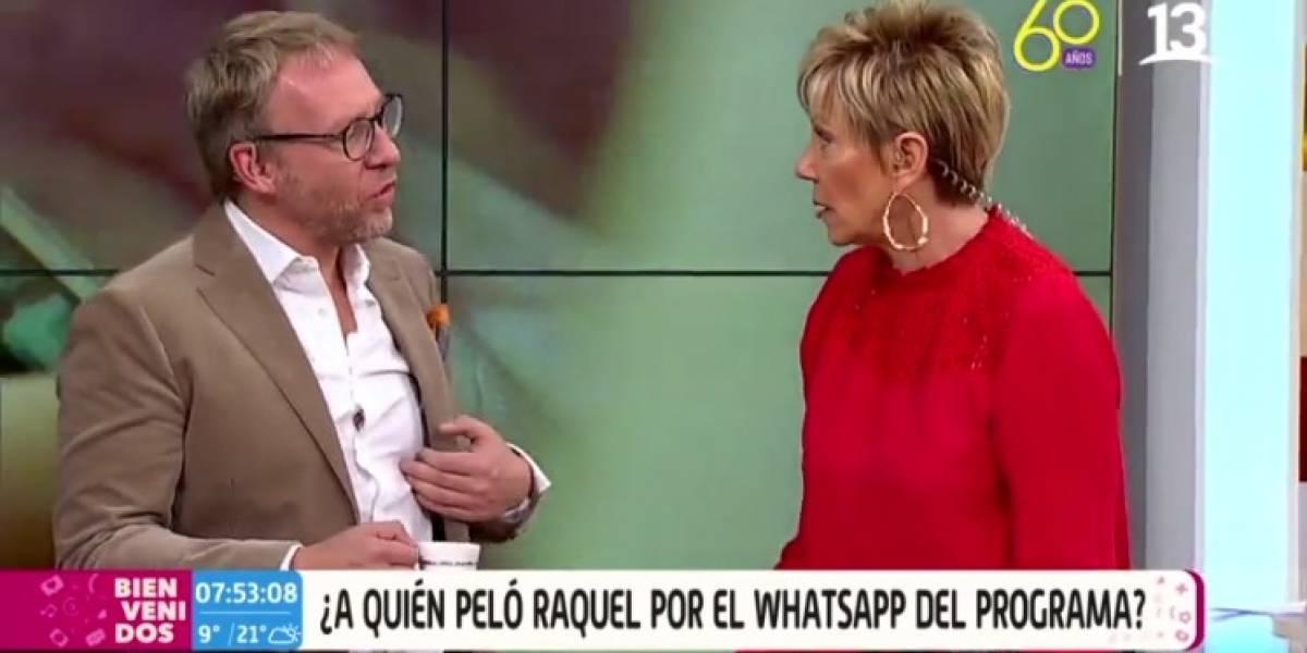 """""""¡Por eso se arman los cahuines!"""": Martín Cárcamo encaró a Raquel Argandoña por pelar chat del """"Bienvenidos"""""""