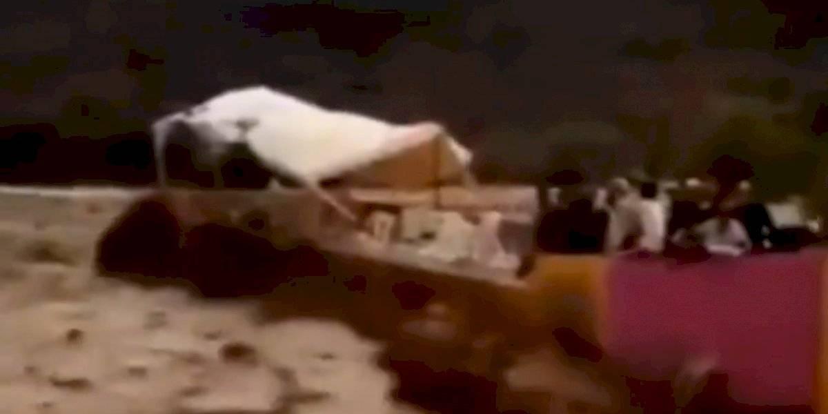 VIDEO: Inundaciones arrasan con un estadio de futbol ¡hay siete personas fallecidas!