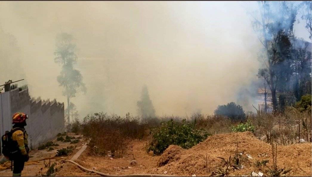 Incendio en el sector de La Josefina