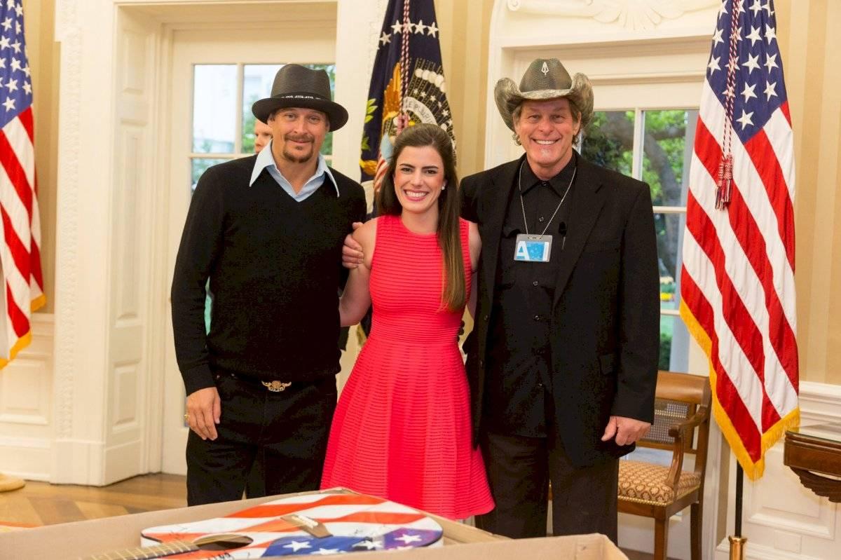 Kid Rock y Ted Nugent, en su visita a la Casa Blanca