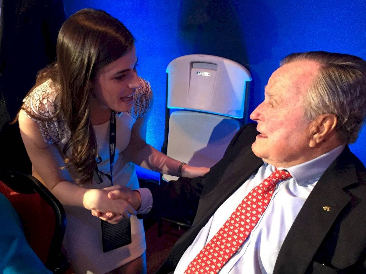 Con el presidente George H.W. Bush