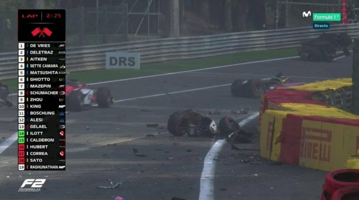 El piloto ecuatoriano, Juan Manuel Correa, se accidentó en Bélgica en la Fórmula 2