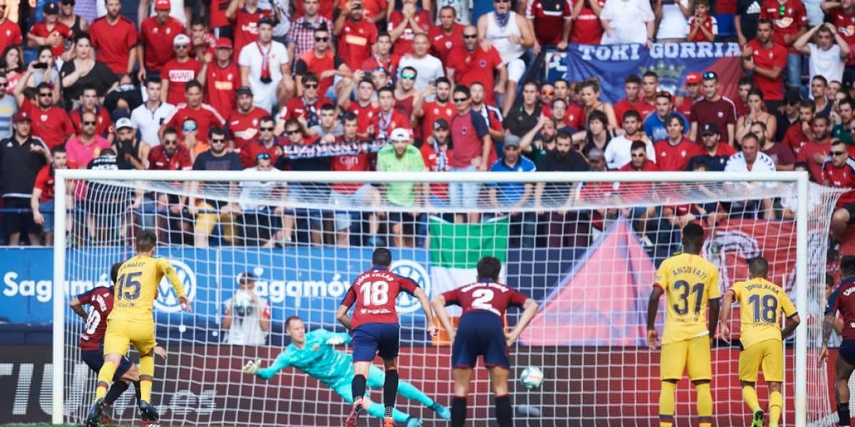 Arturo Vidal apenas jugó ocho minutos en el disputado empate entre Barcelona y Osasuna
