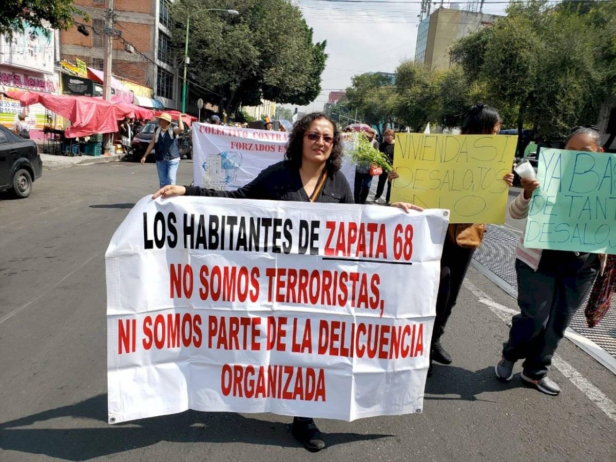 Afectados marcharon de la Biblioteca México al TSJ-CDMX el jueves pasado | Aabye Vargas