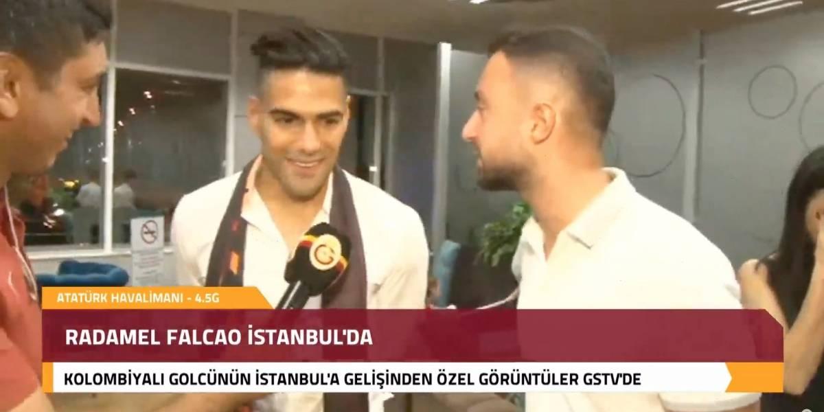 ¿Vainazo para el Mónaco? Las primeras declaraciones de Falcao García tras su llegada al Galatasaray