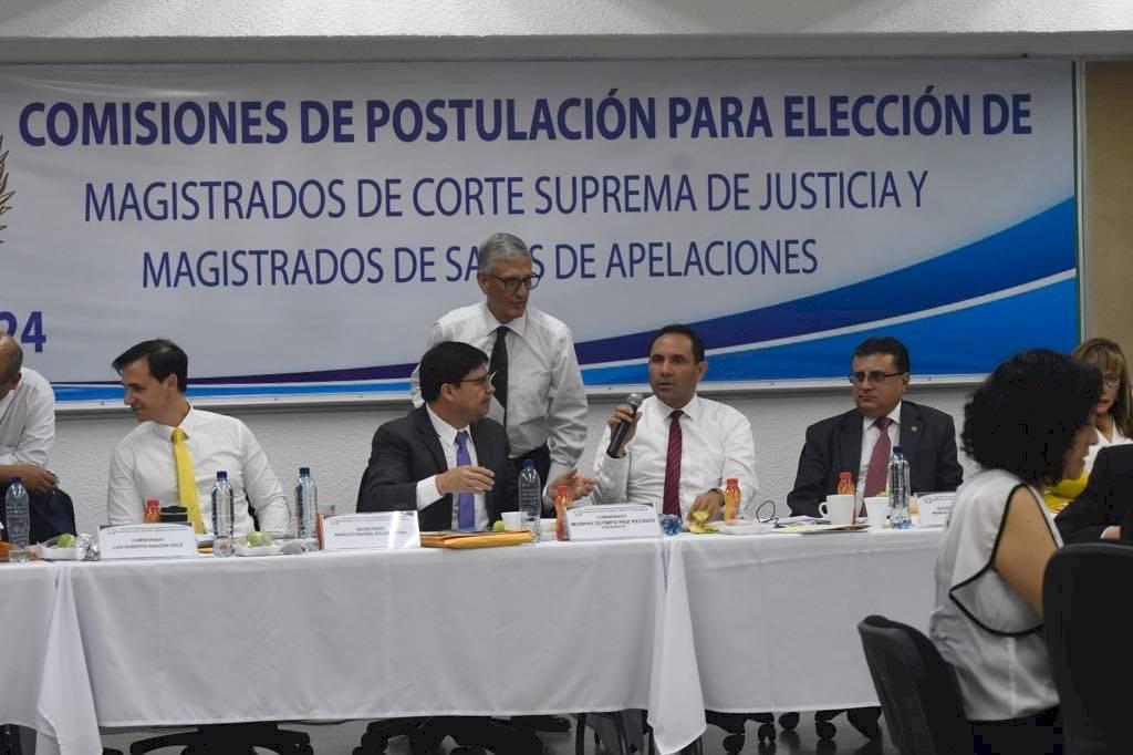 Comisión de postulación para salas de Apelaciones. Foto: Omar Solís