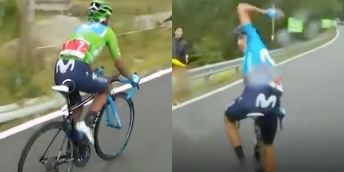 ¡Y eso que son compañeros! El feo gesto de Marc Soler con Nairo Quintana en La Vuelta a España