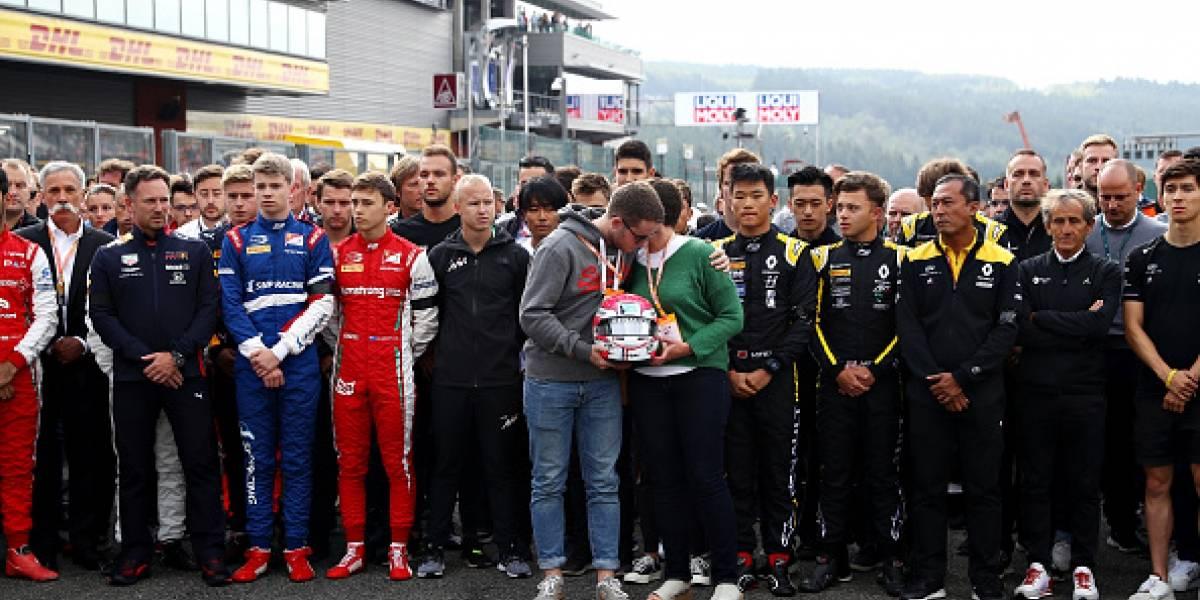 VIDEO: Así fue el homenaje para Anthoine Hubert en el Gran Premio de Bélgica
