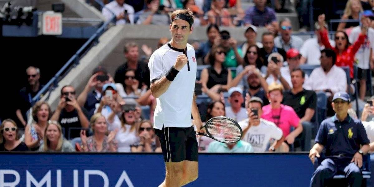 Roger Federer sigue firme en el US Open y avanzó con facilidad a cuartos de final