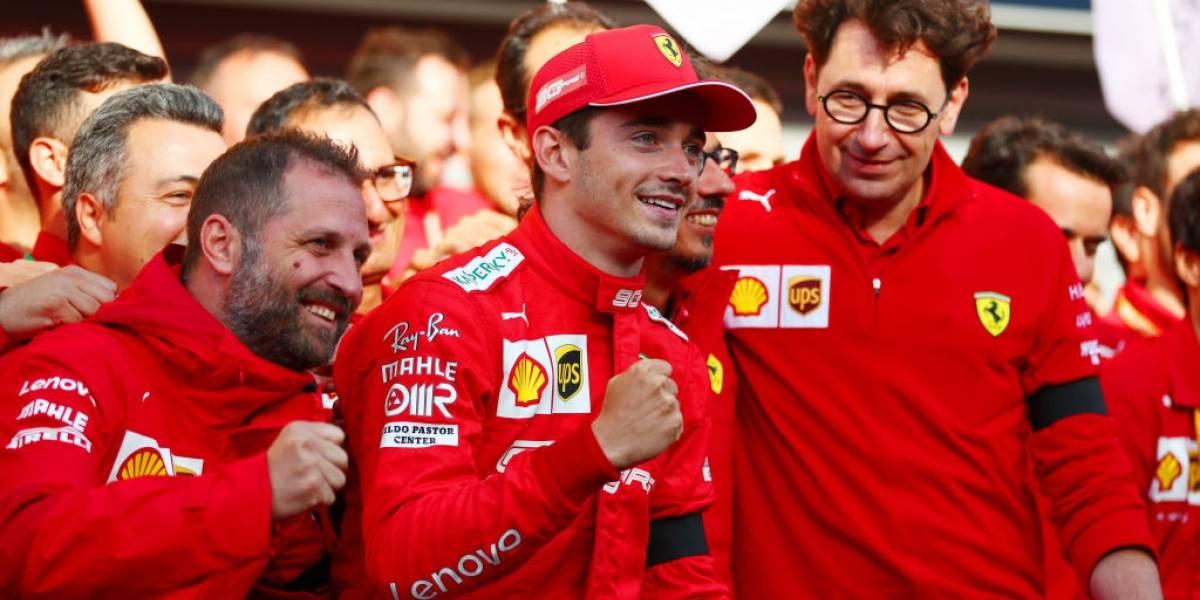 Leclerc consigue la primera victoria de su carrera y Ferrari por fin celebra en la Fórmula Uno
