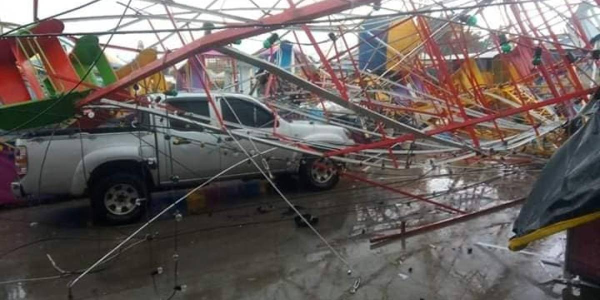 EN IMÁGENES. Lluvias torrenciales y ráfagas de vientos causan destrozos en Jalapa