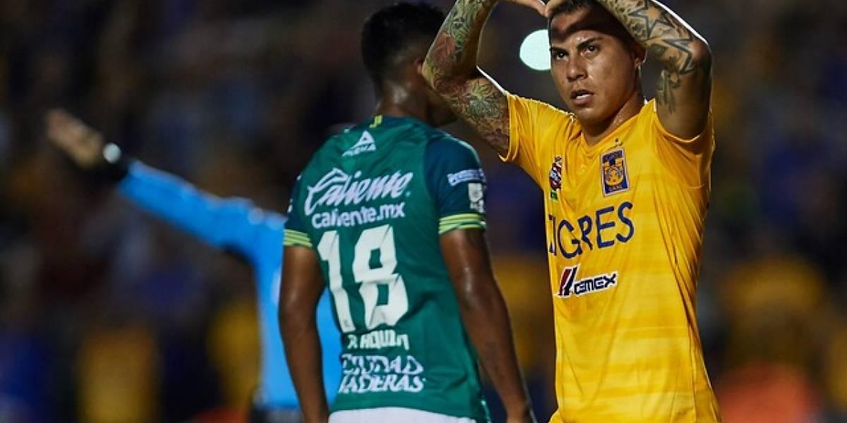 Eduardo Vargas le dio el empate a Tigres y llegará prendido a los amistosos de la selección chilena