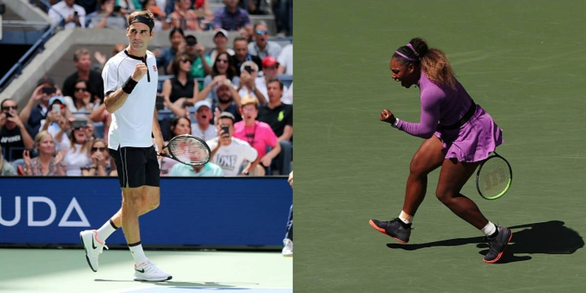 US Open: Federer y Serena Williams avanzan sin problemas a los cuartos de final