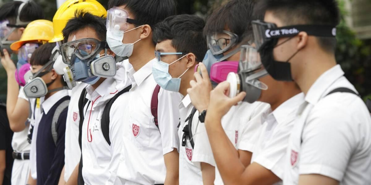 Estudiantes de Hong Kong planean huelga en inicio de clases