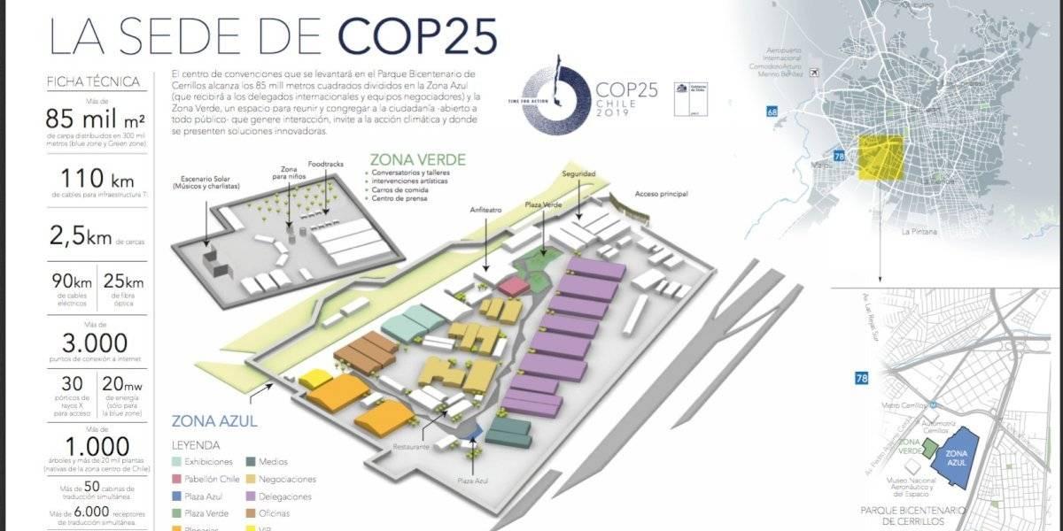Cop25: Gigantesco complejo que albergará la histórica convención en el Parque Bicentenario de Cerrillos