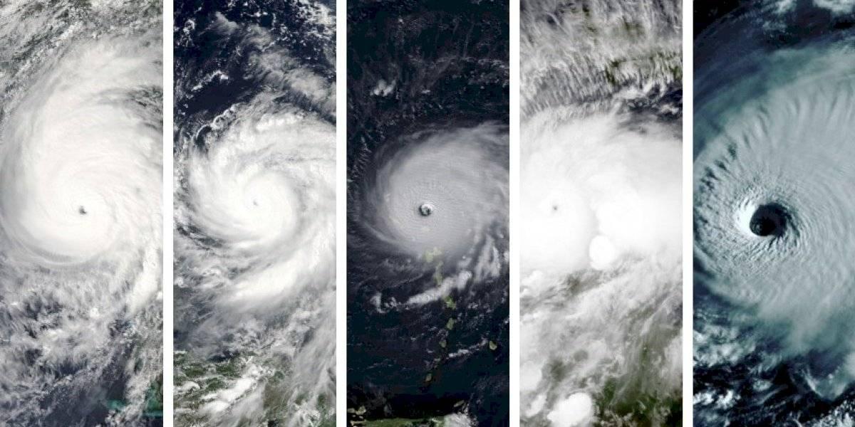 """Irma, María, Matthew, Michael y Dorian: el video viral que compara los """"ojos"""" de los últimos huracanes de categoría cinco más destructivos"""