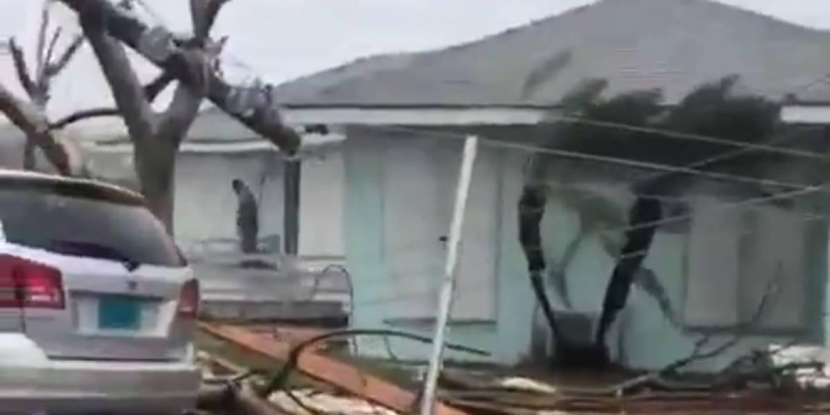 VÍDEO: Internautas compartilham imagens de destruição deixada pelo furacão Dorian