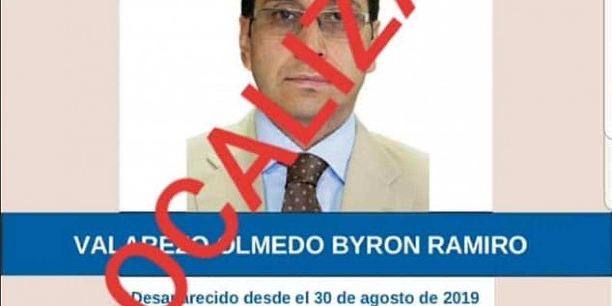 Byron Valarezo, funcionario público desaparecido en Manabí, fue localizado por la Policía