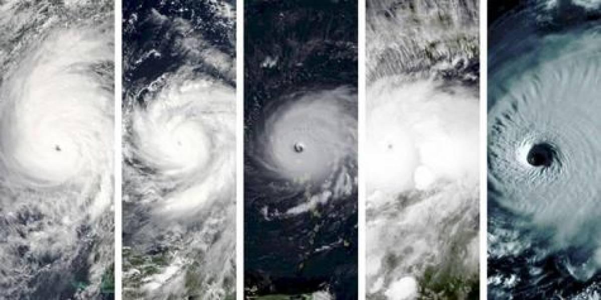 La comparación de los ojos de los últimos huracanes