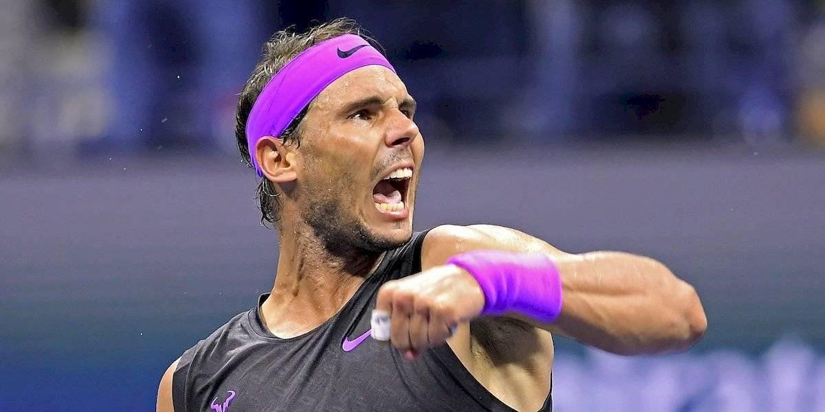 Con sorprendente forma de firmar el match point, Nadal venció a Cilic y está en cuartos de final del US Open