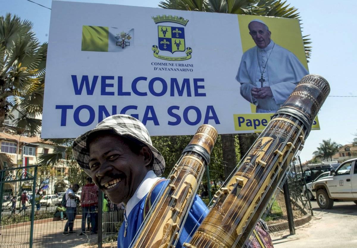 Recepción del papa Francisco en Madagascar