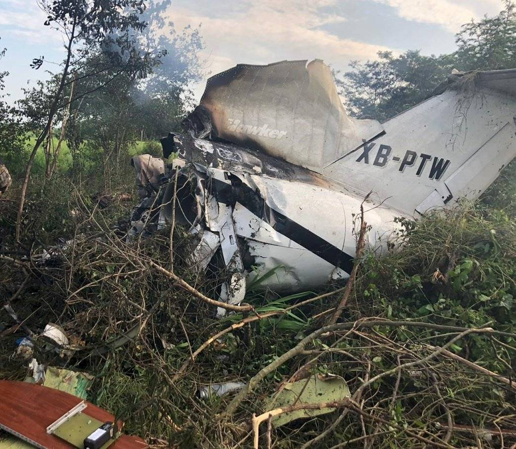 Avioneta se accidentó en Retalhuleu. Foto: MP