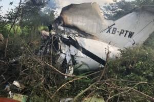 Avioneta se accidentó en Retalhuleu.