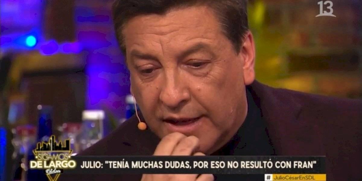 """Julio César Rodríguez se emocionó al recordar su relación con Fran García-Huidrobro : """"Era como un alcohólico sin alcohol"""""""