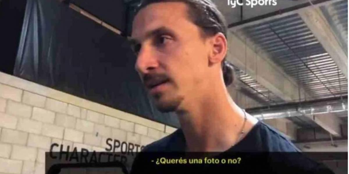 La reacción de Zlatan cuando le preguntan por Boca se viralizó