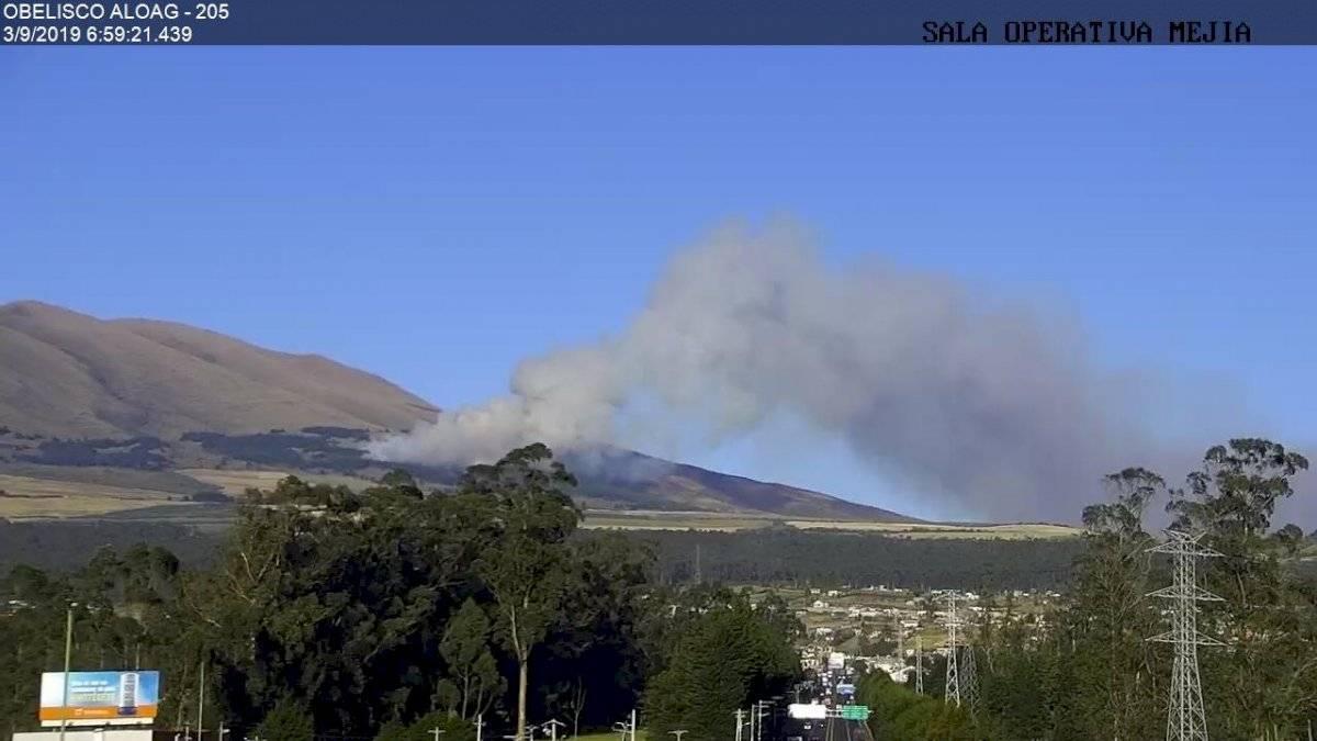 Incendio forestal en Machachi