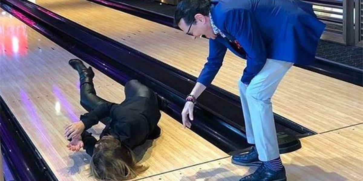 Martha Figueroa se cae de forma aparatosa durante programa en vivo