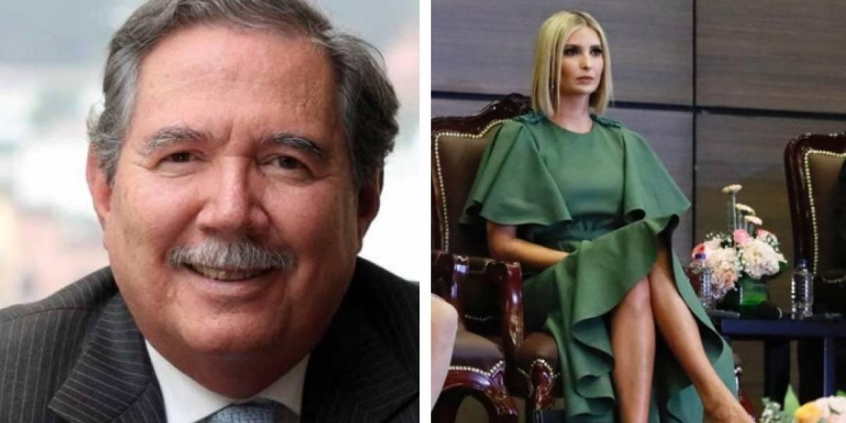 A ministro de Defensa se le fue mirada con hija de Trump