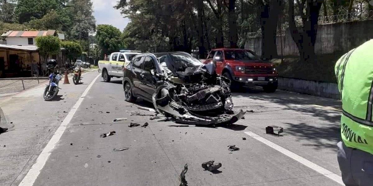 VIDEO. Así quedó el vehículo del futbolista Pablo Aguilar tras aparatoso accidente