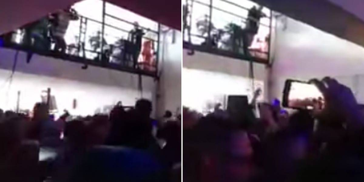 (VIDEO) Piso de discoteca se desplomó en medio de la fiesta
