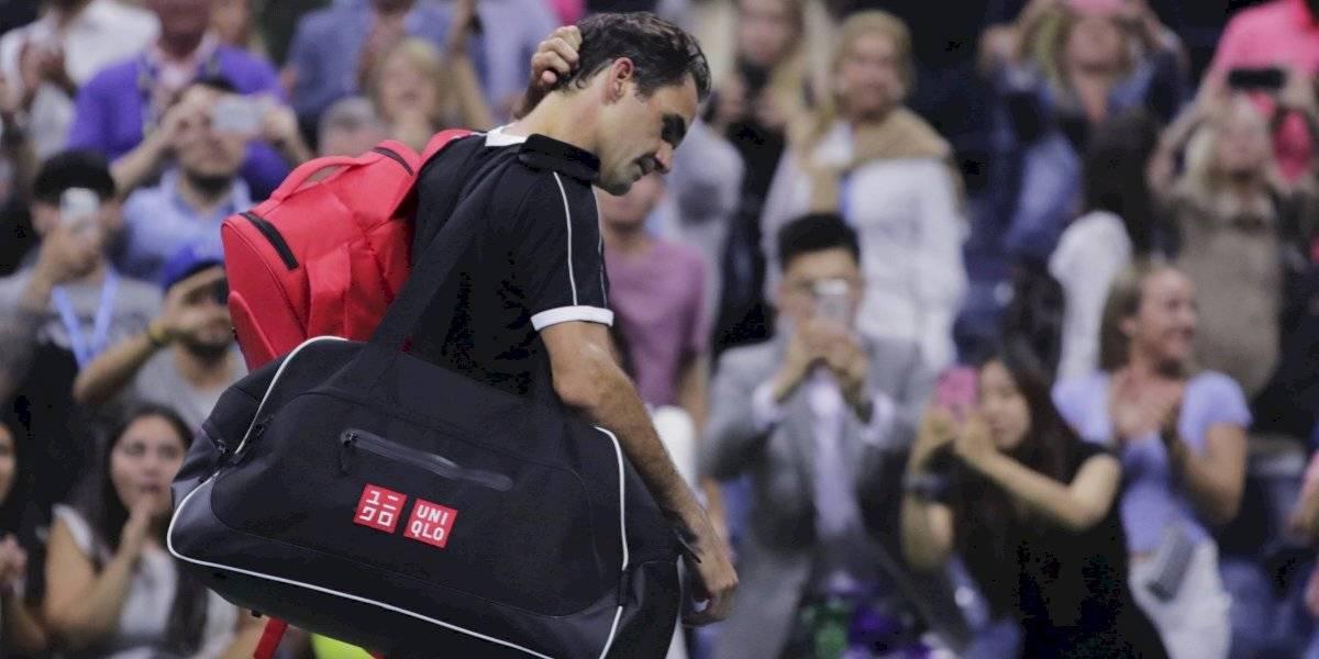 """La lesión que frustró a Federer en el US Open: """"Tuve dolores en la espalda y el cuello, pero Dimitrov fue mejor que yo"""""""