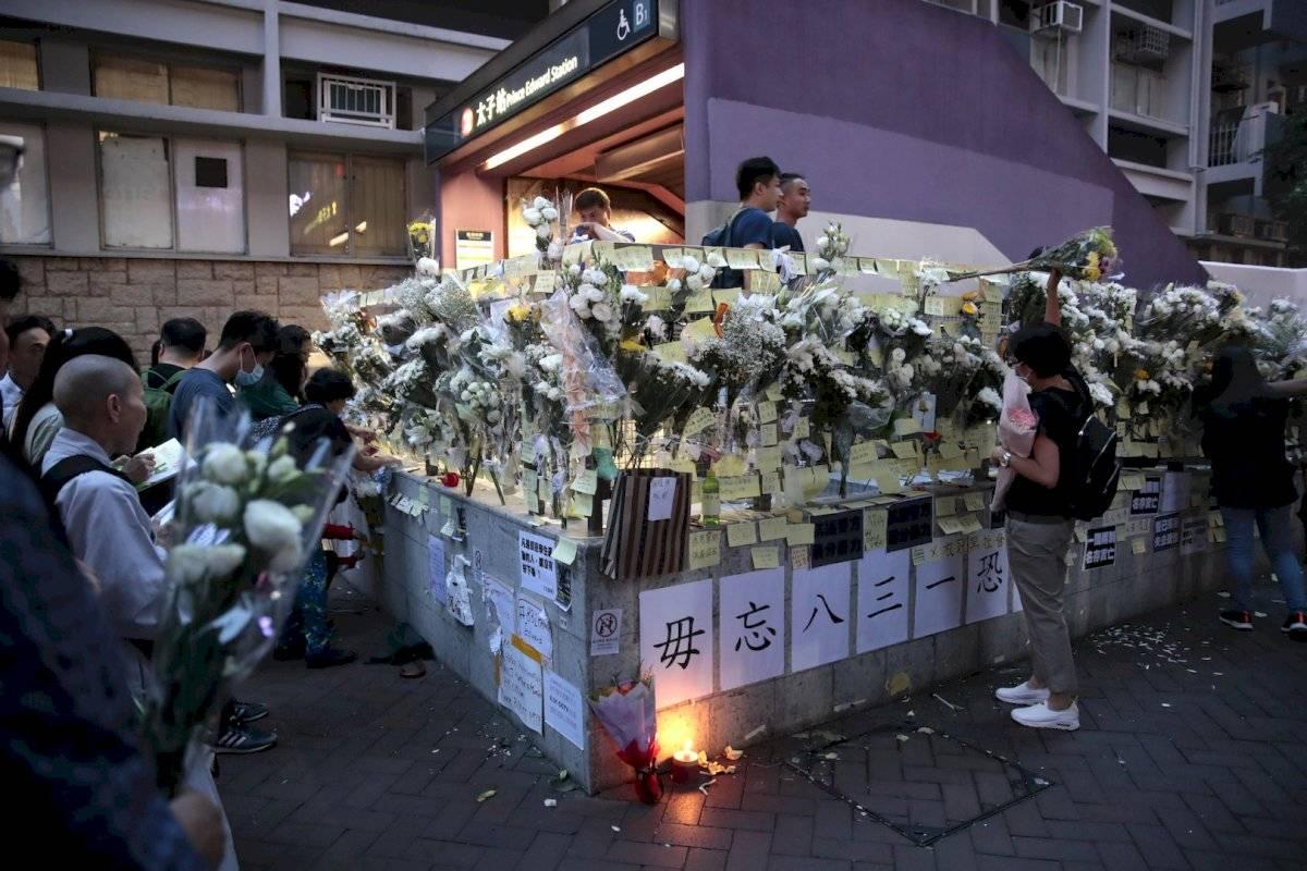 También se han utilizado las flores blancas como símbolo de protesta en Hong Kong