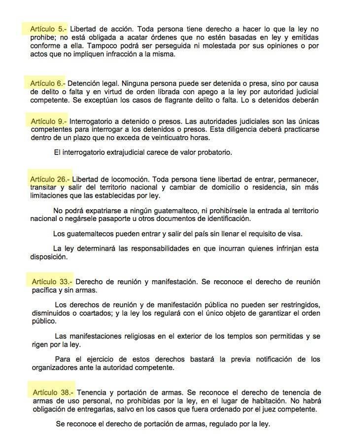 Prohibiciones de Estado de Sitio